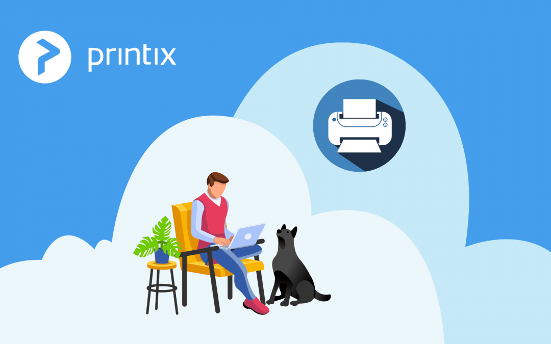 Secure cloud printing from home