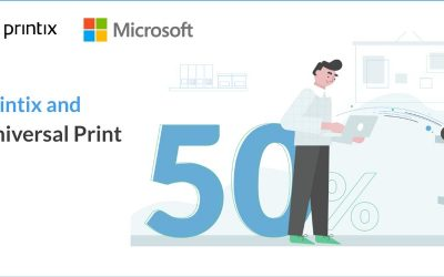 Printix modern workplace printing in concert with Universal Print